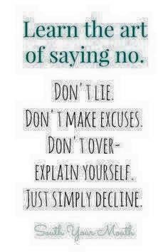 lær at sige nej