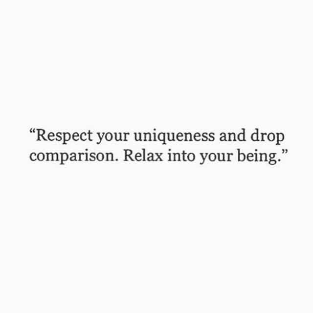 respekt, unik, drop sammenligning, hvil ind i din væren